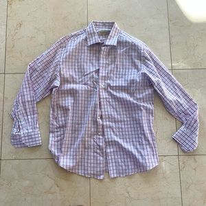 Tommy Bahama NWOT Pink Blue White Buttondown 34-35
